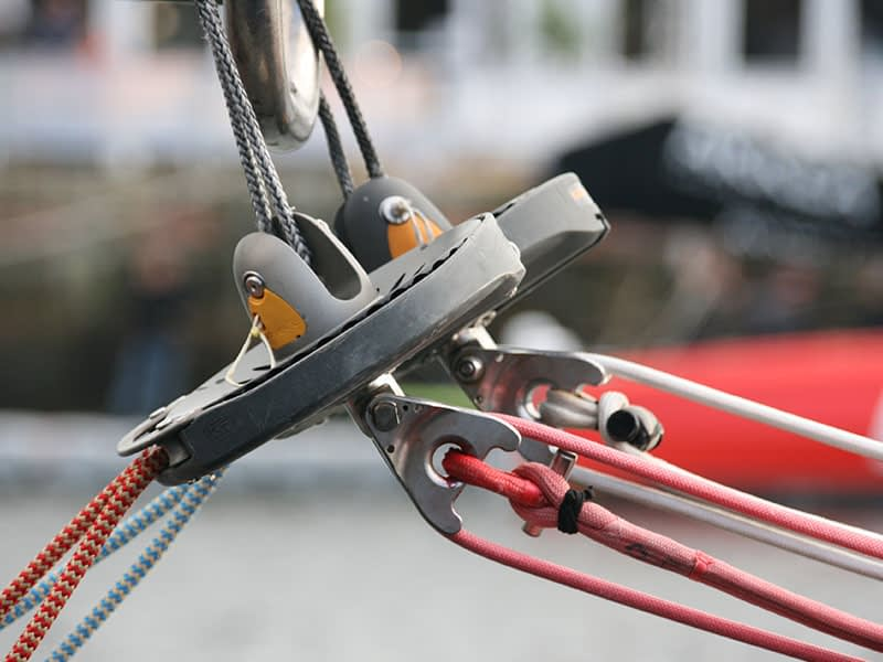 Continuous line furler with 3:1 fitting onboard Imoca 60 11th Hour Racing