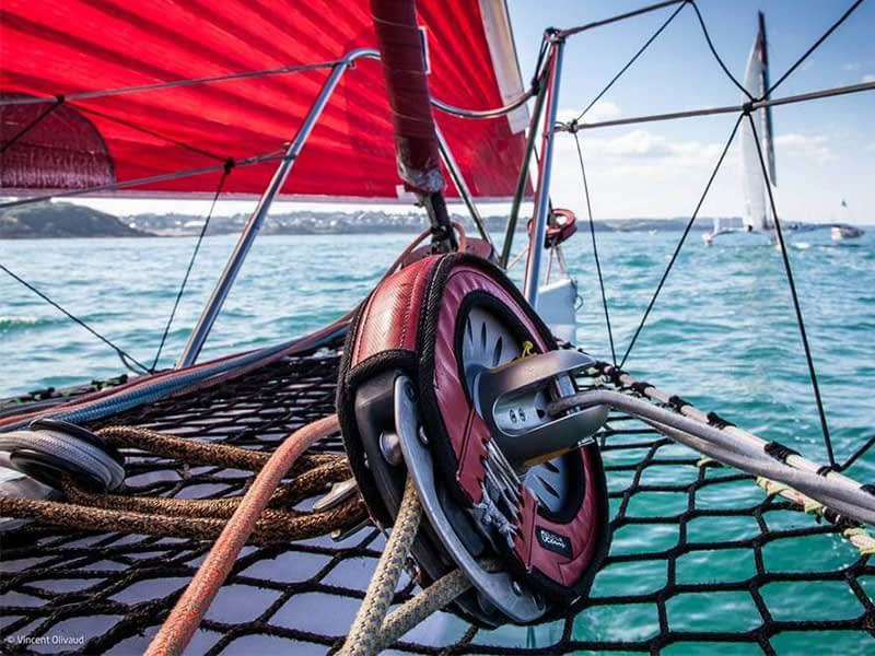 Karver Systems furler onboard Multi50 skippered by Lalou Roucayrol