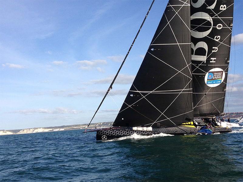 Imoca 60 Hugo Boss sailing with Karver Systems furlers